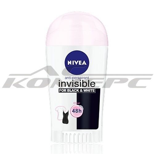 Део стик NIVEA WOMEN Clear Invisible for Black and White 40мл